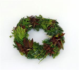 Afbeelding van coniferen/bladmixkrans 35/40cm