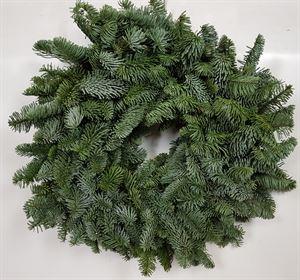 Afbeelding van Nobilis krans 40cm spiky half rond gebonden