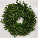 Afbeelding van Buxus krans 30cm spiky gedraaid- Halfrond gebonden.